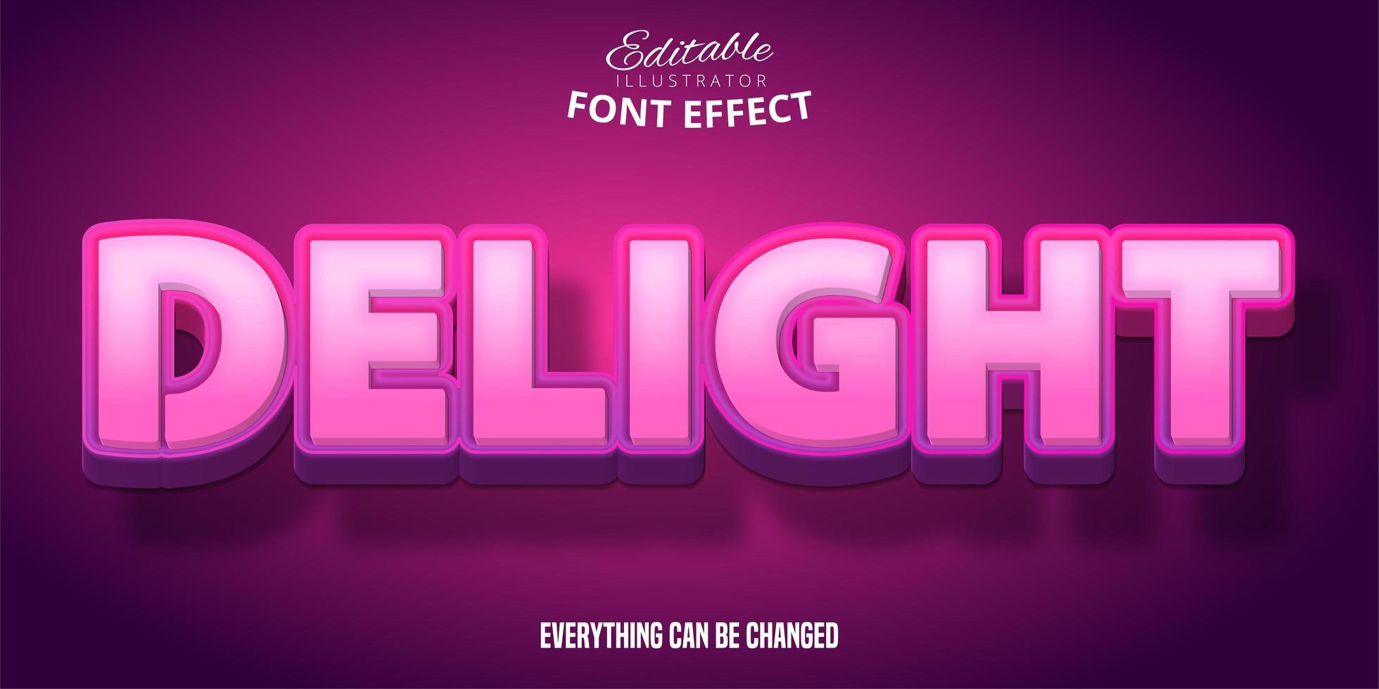 heerlijk roze teksteffect vector
