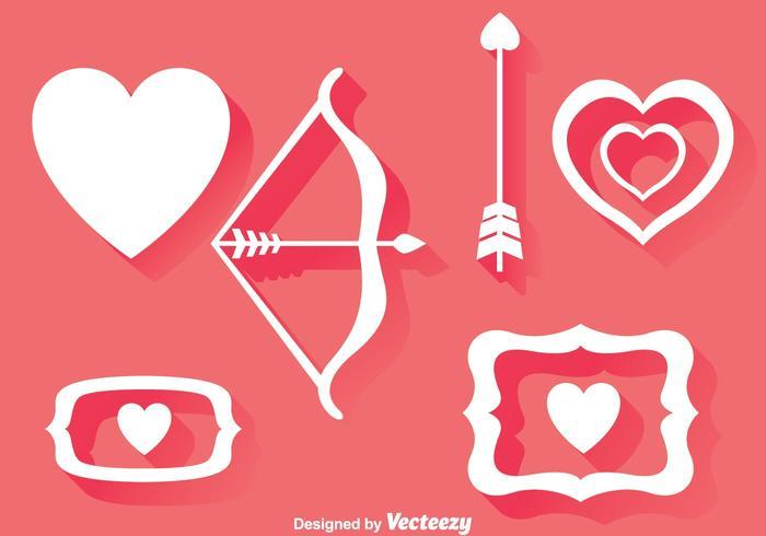 Liefde Element Pictogrammen vector