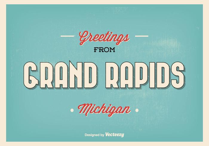 Grand Rapids Michigan Retro Groet Illustratie vector