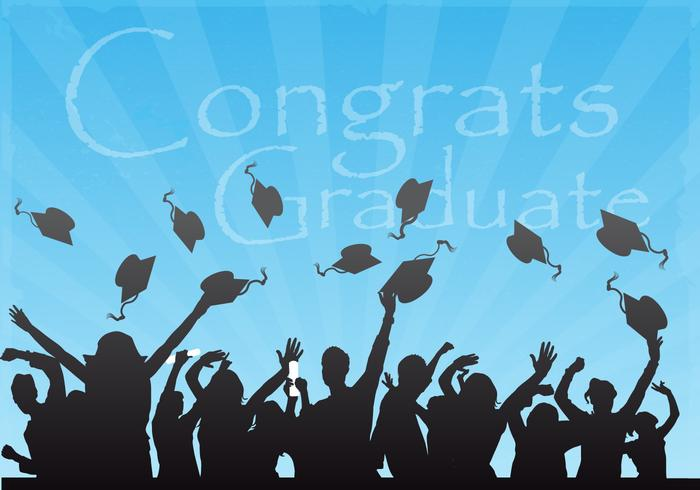 Gefeliciteerd Graduate Vector Achtergrond