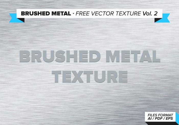 Geborstelde Metalen Gratis Vector Textuur Vol. 2