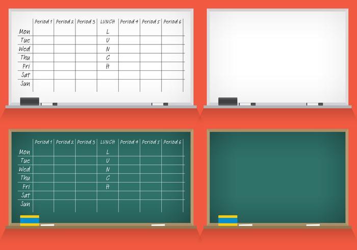 School Schedule Vectoren