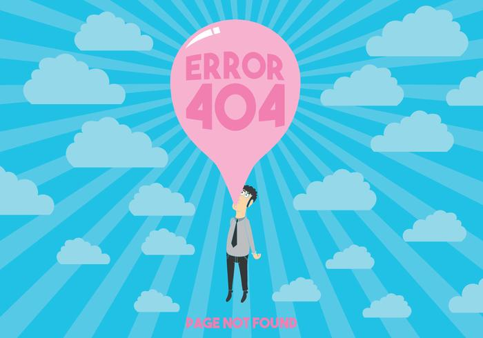 404 fout vector