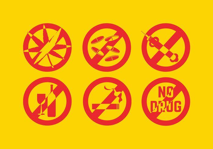 Geen drugsvectoren vector