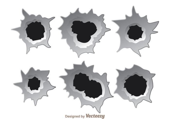 Bullet hole effectvectoren vector