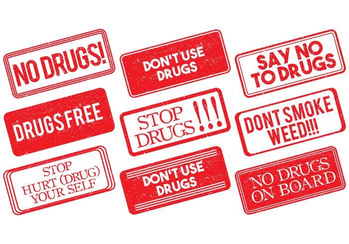 Geen Drugstempel Vector