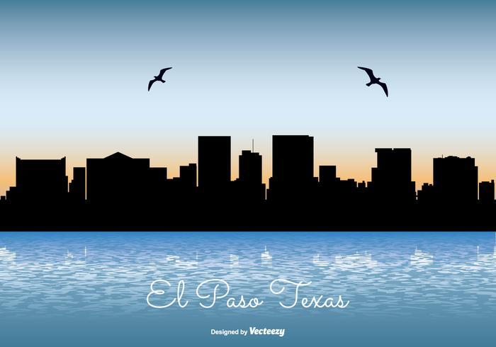 El Paso Texas Horizon Illustratie vector