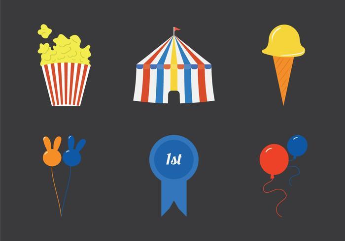 Gratis County Fair Vector Illustratie set
