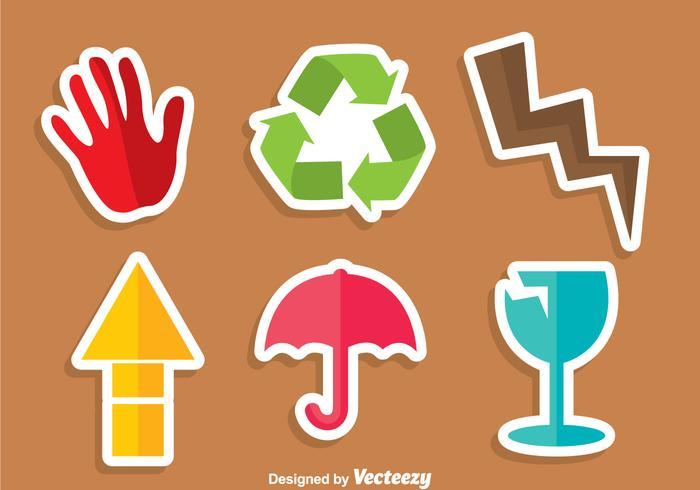 Fragiele Kleurrijke Sticker vector