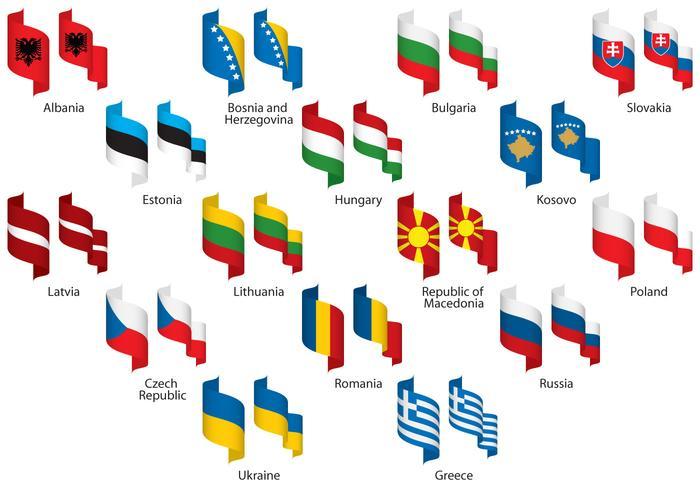 Oost-Europa Linten vector