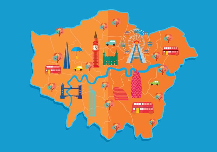 Londen kaart vector