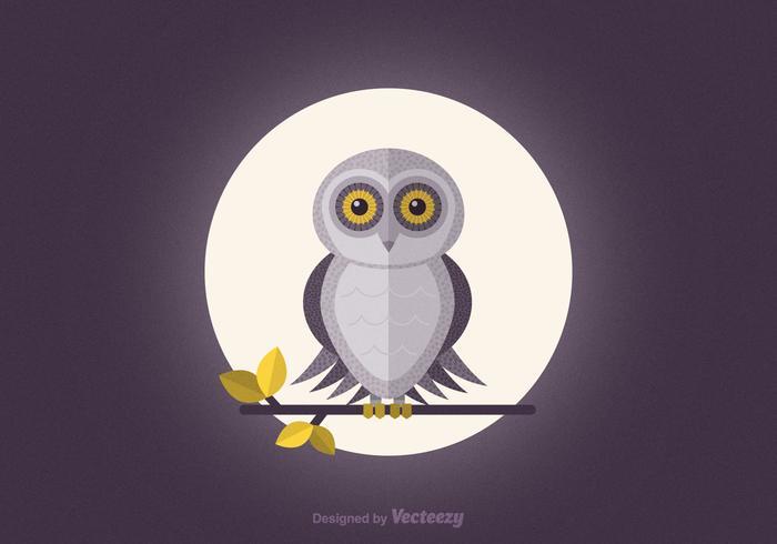 Gratis Schuur Owl Vector Wallpaper