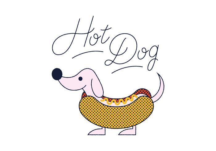 Gratis Hot Dog vector