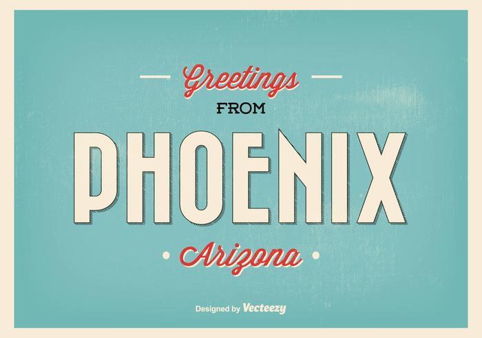 Phoenix Arizona Retro Greeting Illustratie vector