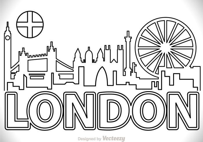 London city scape overzicht vector