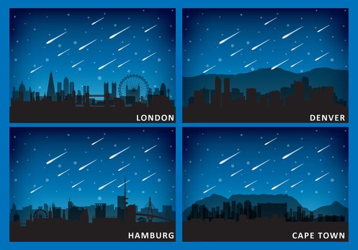 Meteoren En Steden vector