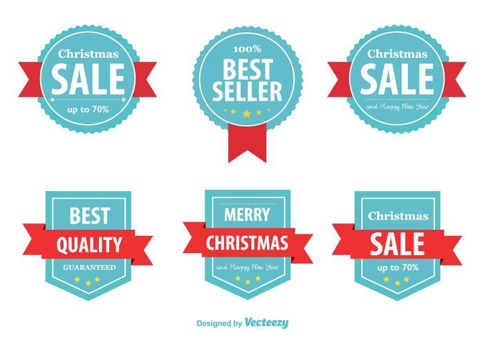 Beste Verkoper Kerst Labels vector