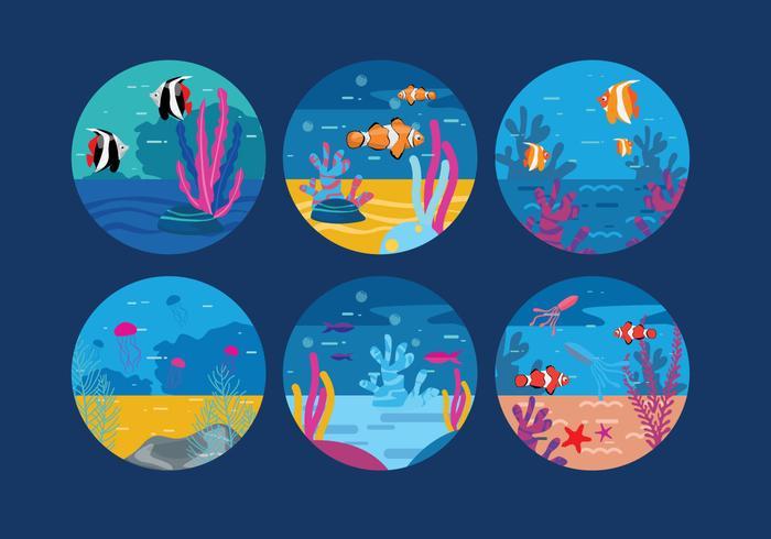 Onderwater Achtergrond Vector