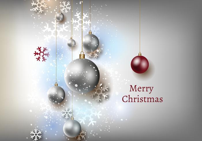 Gratis Kerst Grijze Achtergrond Vector