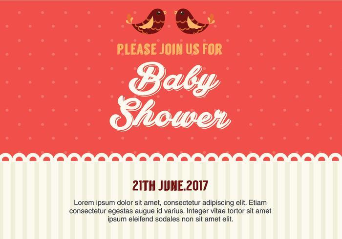 Uitnodiging Vector Baby Shower