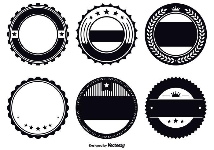 Geassorteerde Badge Sjabloon Set vector