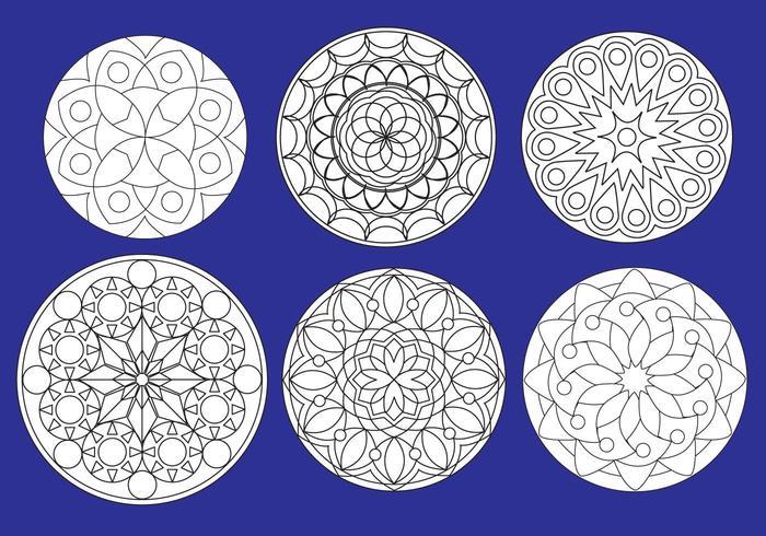 Healing mandalas vector