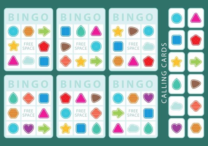 Vorm Bingo Kaarten vector