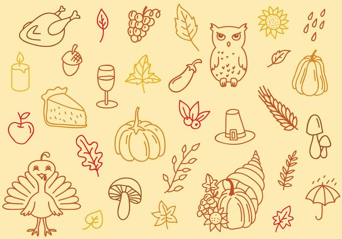 Gratis Thanksgiving Achtergrond vector