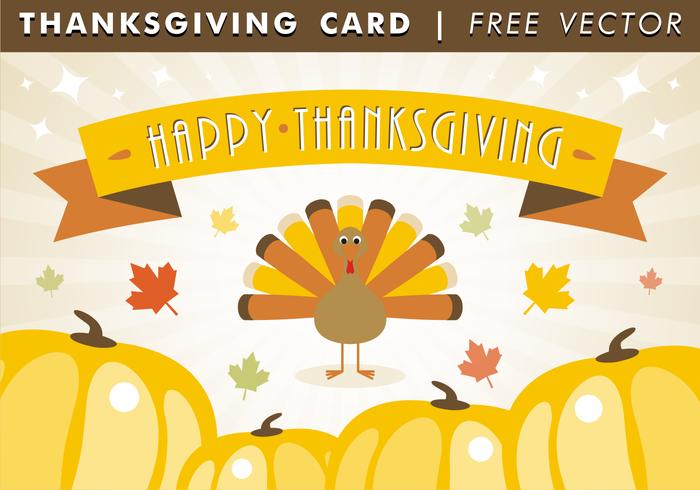 Happy Thanksgiving Card Gratis Vector