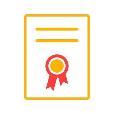 Platte pictogram certificaat - Download Free Vectors, Vector Bestanden, Ontwerpen Templates