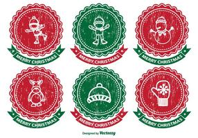 Verontruste kerstlabel set