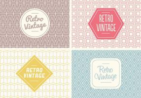 Gratis Naadloos Vintage Patroon Vector