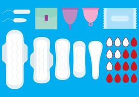 Vrouwelijke hygiënevectoren