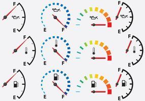 Kleurrijke meters