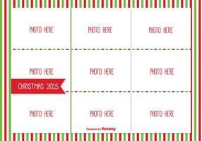 Kerstfoto Collage Template vector