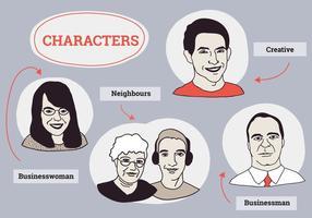 Gratis verzameling van karakters Vector