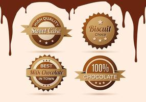 Gratis verzameling van Chocolade Etiketten, Badges en Pictogrammen vector