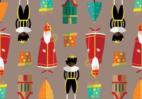 Kerstmis Nederland Vector Patroon