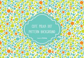 Leuke Polka Dot Achtergrond vector