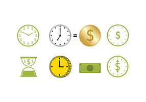 Vrije Tijd Is Geld Vector