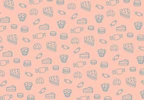 Snoep patroon achtergrond vector