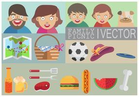 Familie Picnic Vector