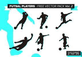 Futsal Spelers Gratis Vector Pack Vol. 2