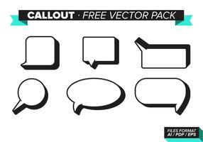 Callout Gratis Vector Pakket