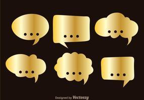 Gouden callout vector