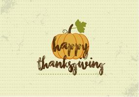 Gratis Happy Thanksgiving Pumpkin Vector