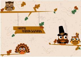 Gratis Thanksgiving Kalkoenen Vector