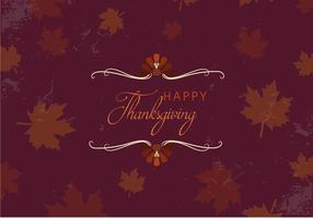 Gratis Gelukkige Thanksgiving Bladeren Vector