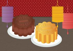 MoonCake Vectorillustratie vector