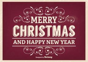 Retro Christmas Greeting Illustratie vector